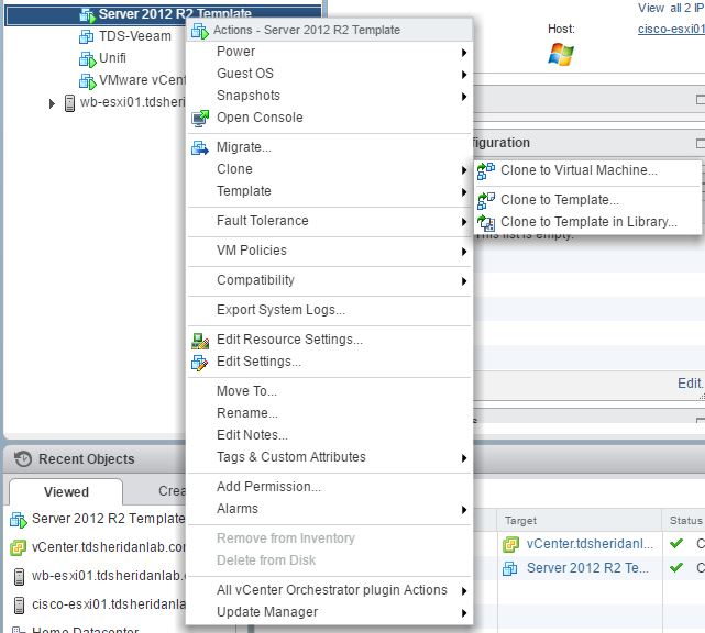Creating VMWare Templates on vCenter 6 5 – TDSheridan Lab