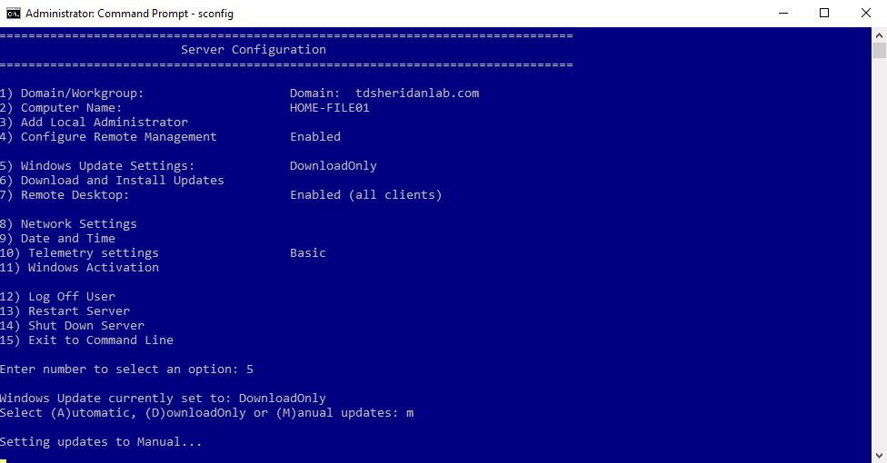 Disable Automatic Updates on Server 2016 – TDSheridan Lab