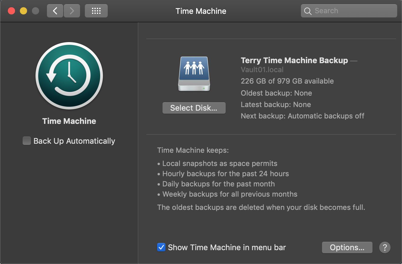 Synology Project Part 8: Configuring Time Machine Backups